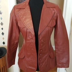 VTG Leather Buttery Brown Jacket!